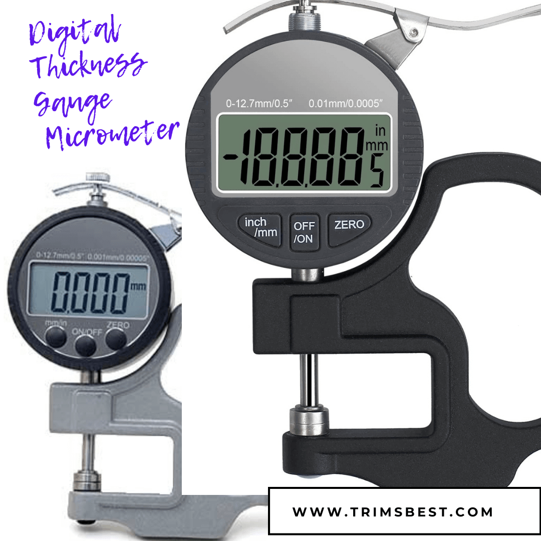 Digital Thickness Gauge Micrometer Trims Best